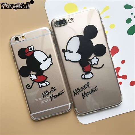 Casecassingcasing For Iphone 6 6s Plus Soft Minnie fundas coque for iphone 5s 5 se 6 6s 6plus 7 7plus mickey minnie mouse soft