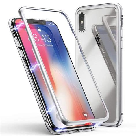 iphone xr magnetic adsorption metal frame with tempered glass back gorilla gadgets