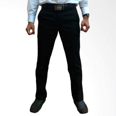 Celana Bahan Slim Fit Bandung jual yasmine celana bahan kerja pria slim fit hitam harga kualitas terjamin