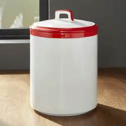 White Kitchen Canister by Baker Red And White Kitchen Canister Large Crate And Barrel