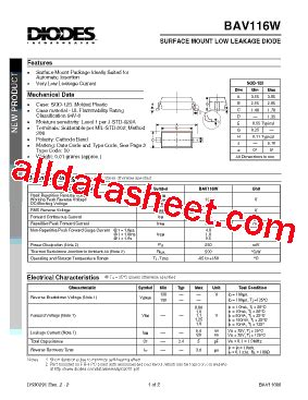 diodes inc bss84 baw56t 7 datasheet pdf diodes 28 images bav116 7 datasheet pdf diodes incorporated 1a7