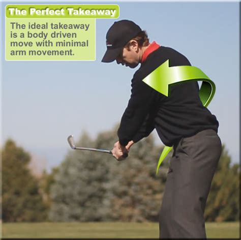 perfect golf swing takeaway rotaryswing tour golf instruction book