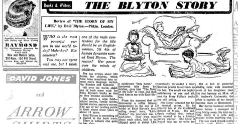 Enid Blyton Seri Kumbang No 1 3 and white cross enid blyton revisited article from 1953 newspaper quot the blyton story quot