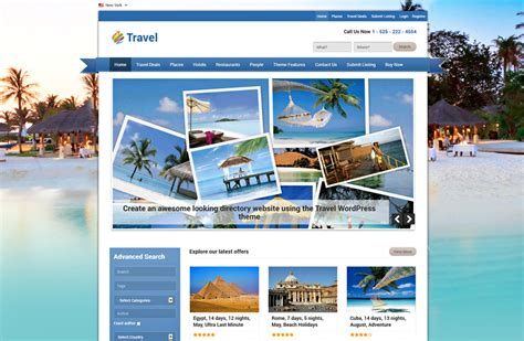 wordpress themes free travel agency top 10 wordpress travel blog themes webhosting dogs