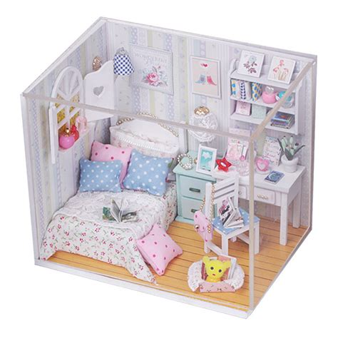 doll houses ebay new kits diy wood dollhouse miniature with led furniture cover doll house room ebay