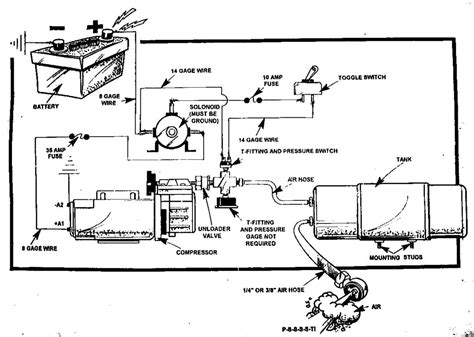 wiring diagram for air compressor cooler for air