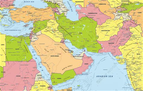 middle east political map digital political map middle east 633 the world of maps