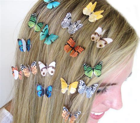 Set Of 3 Hair Clip set of 3 butterfly hair hair accessories for