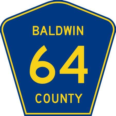 Baldwin County Alabama Records File Baldwin County Route 64 Al Svg