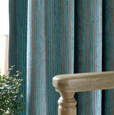 modern teal curtains teal polyester jacquard striped contemporary patterned