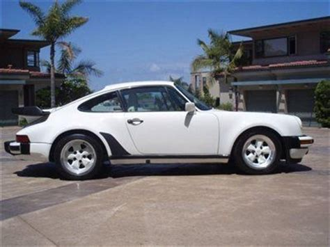 porsche 930 whale tail purchase used 1986 porsche 930 carrera turbo coupe white