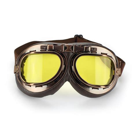 vintage motocross goggles vintage steunk pilot helmet motorcycle goggles copper