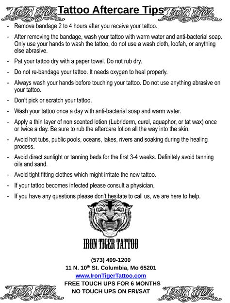 tattoo aftercare tips tattoo collections