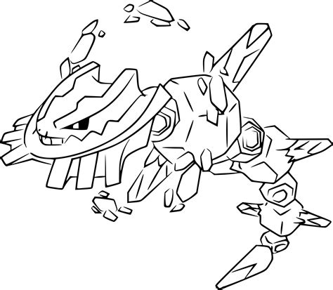 pokemon coloring pages mega diancie coloriage m 233 ga steelix pokemon 224 imprimer sur coloriages info