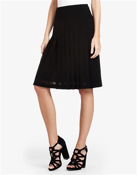bcbgmaxazria bonita pleated chiffon skirt in black lyst