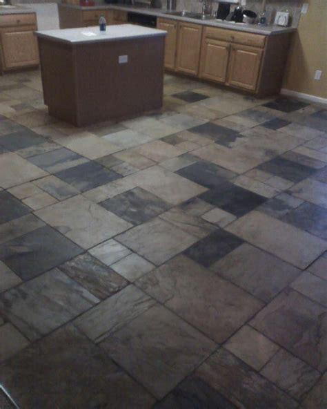 Metro Floors slate tile atlanta in a four pattern medley by metro atl floors