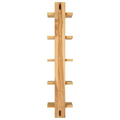 bathroom accessories shelves bastian hanging bathroom teak shelf five shelves