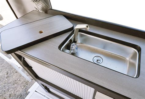 kitchen sink and faucet rv kitchen sink read this before buying rvshare