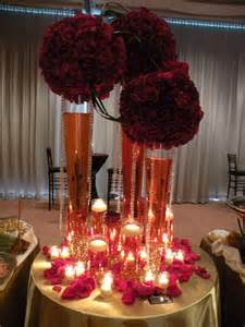 burgundy gold centerpiece gold burgundy table