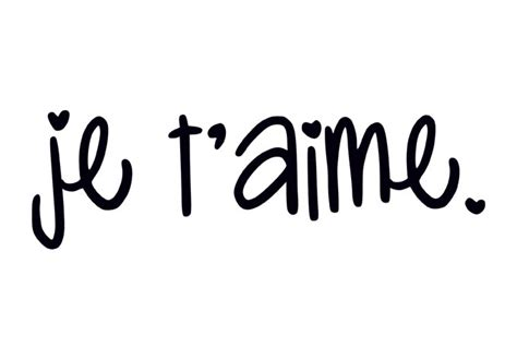 Je Taime by Je T Aime I You In Wall Decal For