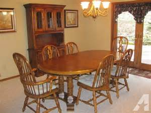 Oak Dining Room Furniture Sale Oak Dining Room Set Table With 6 Chairs For Sale In Howard Wisconsin Classified
