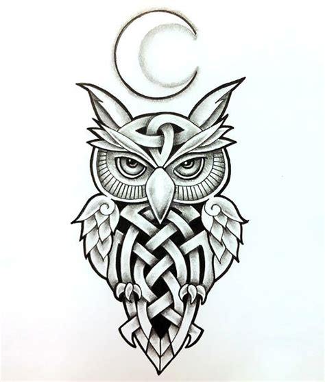 celtic owl tattoo design