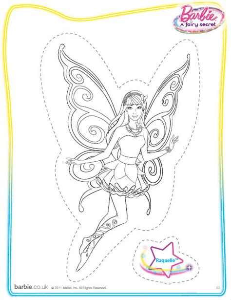 barbie a fairy secret coloring printable barbie