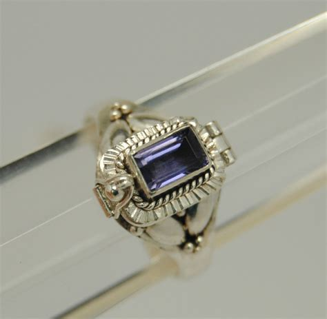 gorgeous amethyst cremation urn ring more sizes silver