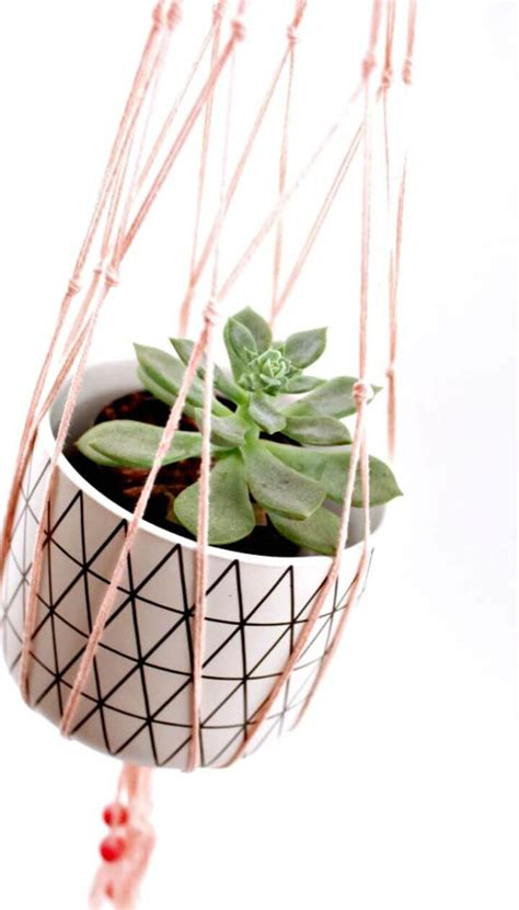Macrame Plant Holder Tutorial - macrame plant hanger 100 best macrame ideas for hanging