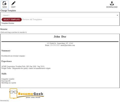 Resume Builder Web App Portfolio Marty Himmel Web App Developer