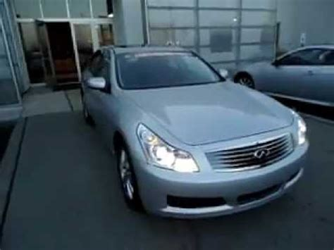 infiniti certified pre owned 2008 infiniti certified pre owned g35x sedan silver only