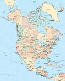 map of northern america and canada map of northern america and canada