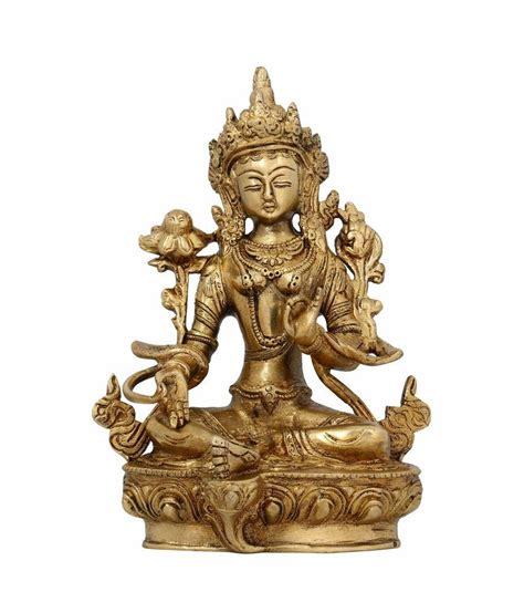 shalinindia buddhist home decor sitting tara buddha brass