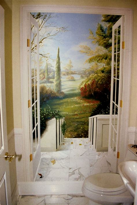 Trompe L Oeil Mural 2363 by Staircase Murals The Mural Works