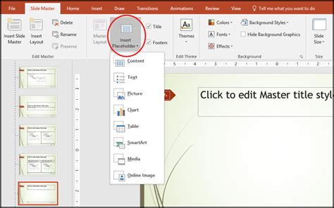 how to create a master template in powerpoint working with powerpoints slide master to create a custom