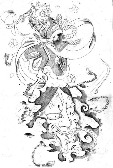 hannya mask tattoo sketch 99 best images about tattoos on pinterest