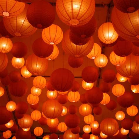 Decoration Lighting Outdoor With Paper Lantern String Lights Outdoor Paper Lantern String Lights