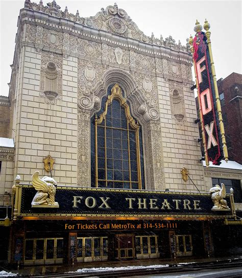 Fox Theater Gift Cards - fox theatre st louis photograph by cathy smith
