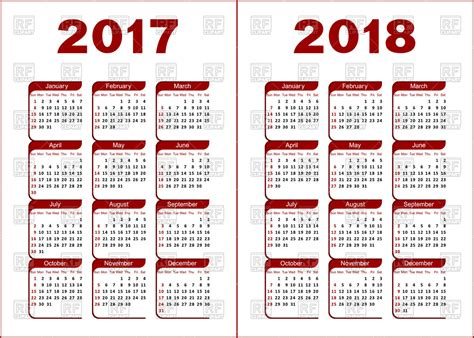 free software for image calendar calendar for 2017 and 2018 royalty free vector clip