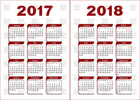 clipart calendario calendar for 2017 and 2018 royalty free vector clip