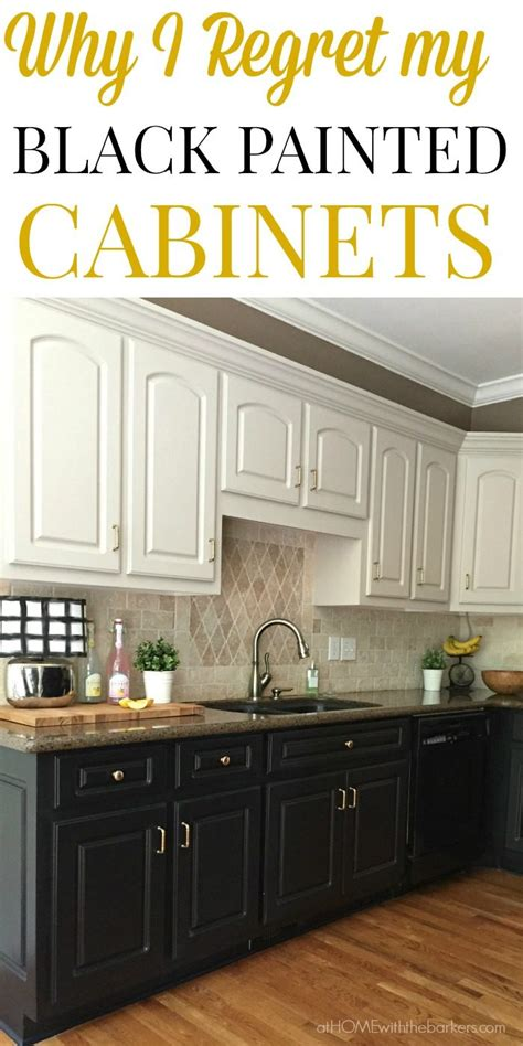 Black Kitchen Cabinets The Ugly Truth At Home With The Painted Black Kitchen Cabinets