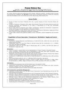 Power Plant Engineer Sle Resume by Director Power Projects Resume