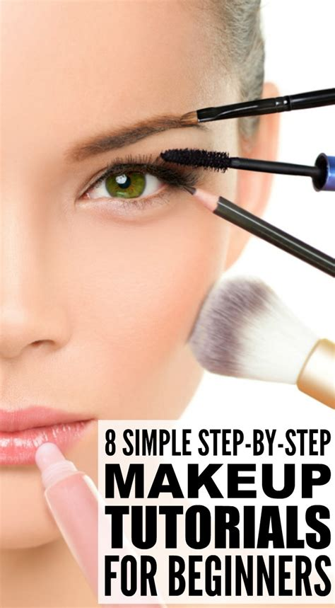 tutorial makeup for beginners 8 step by step makeup tutorials for beginners