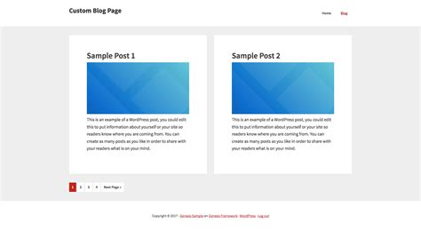 custom page template genesis posts template fully customizable