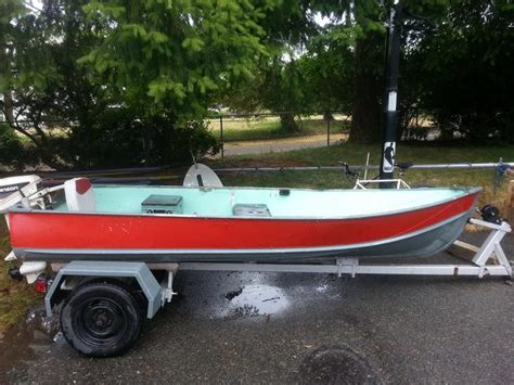 jon boat for sale victoria bc 12 foot aluminum boat with trailer outboard not included