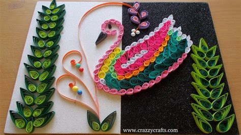 craft and for diy home decor with paper quilling crazzy crafts