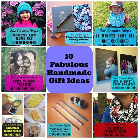 Creative Handmade Gift Ideas - sew creative turns 1 cookbook and craft book giveaway