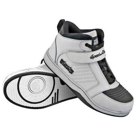 motor bike shoes white