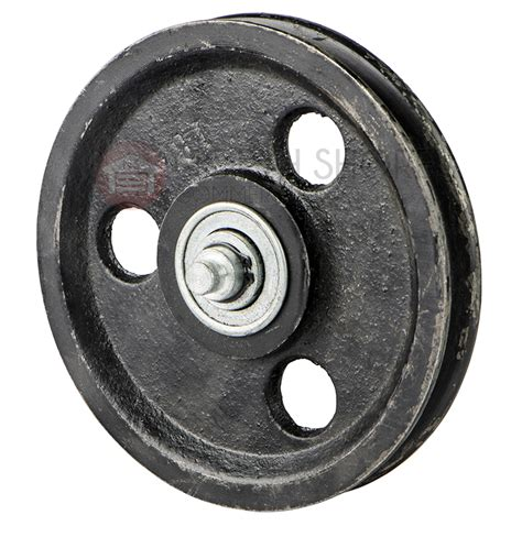 garage door pulley garage door 5 1 2 quot sheave pulley with shaft