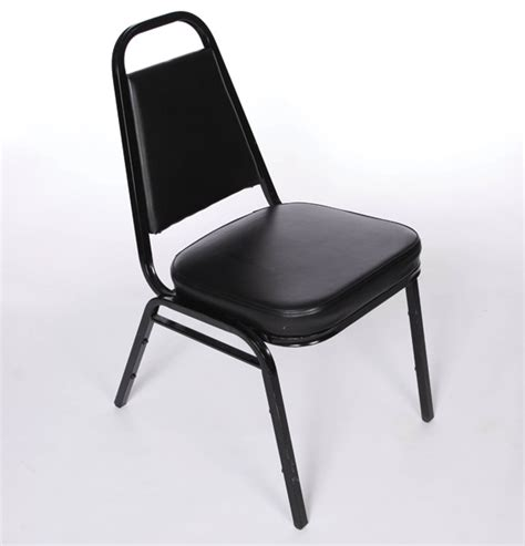 Padded Stackable Chairs by Black Padded Stacking Chairs United Rent All Omaha